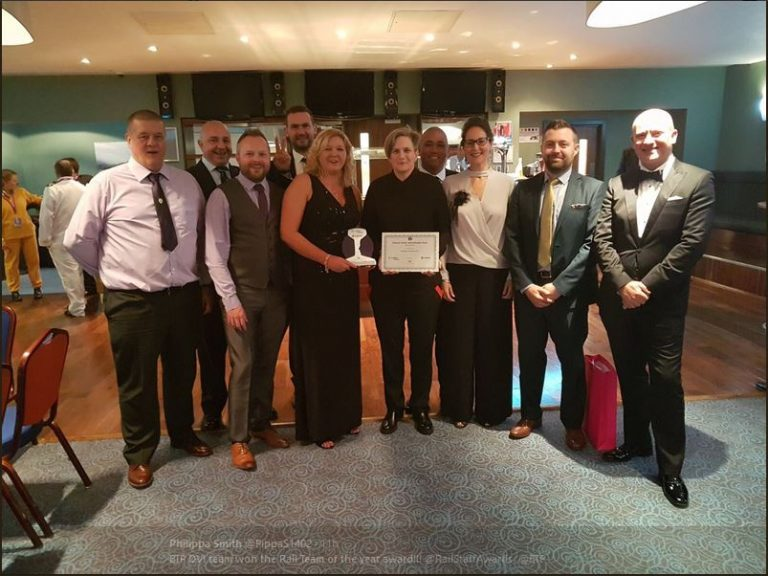 BTP DVI RailStaff Awards Team of the year 2017