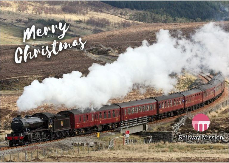 Steam Train Charity Christmas Card