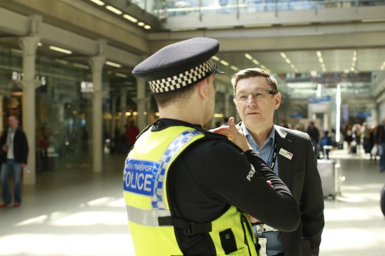 Terrorist attack Brussels Steve Rowe and BTP St Pancras