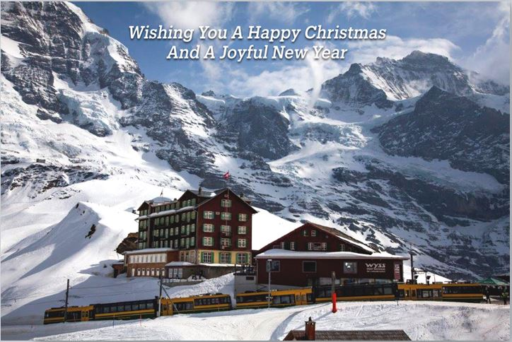 Merchandise Chraity Christmas Card Jungfrau Railway Switzerland