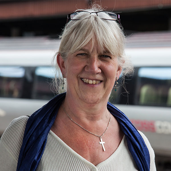 Helen Bartlatt Railway Chaplain for the Railway Mission North East