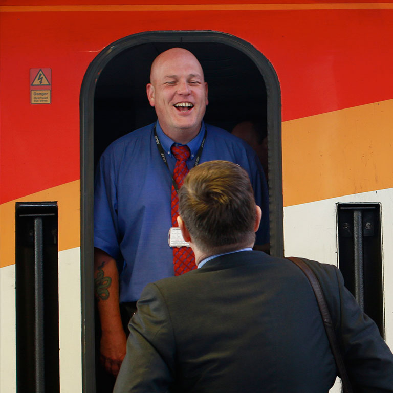 train door talking donate page